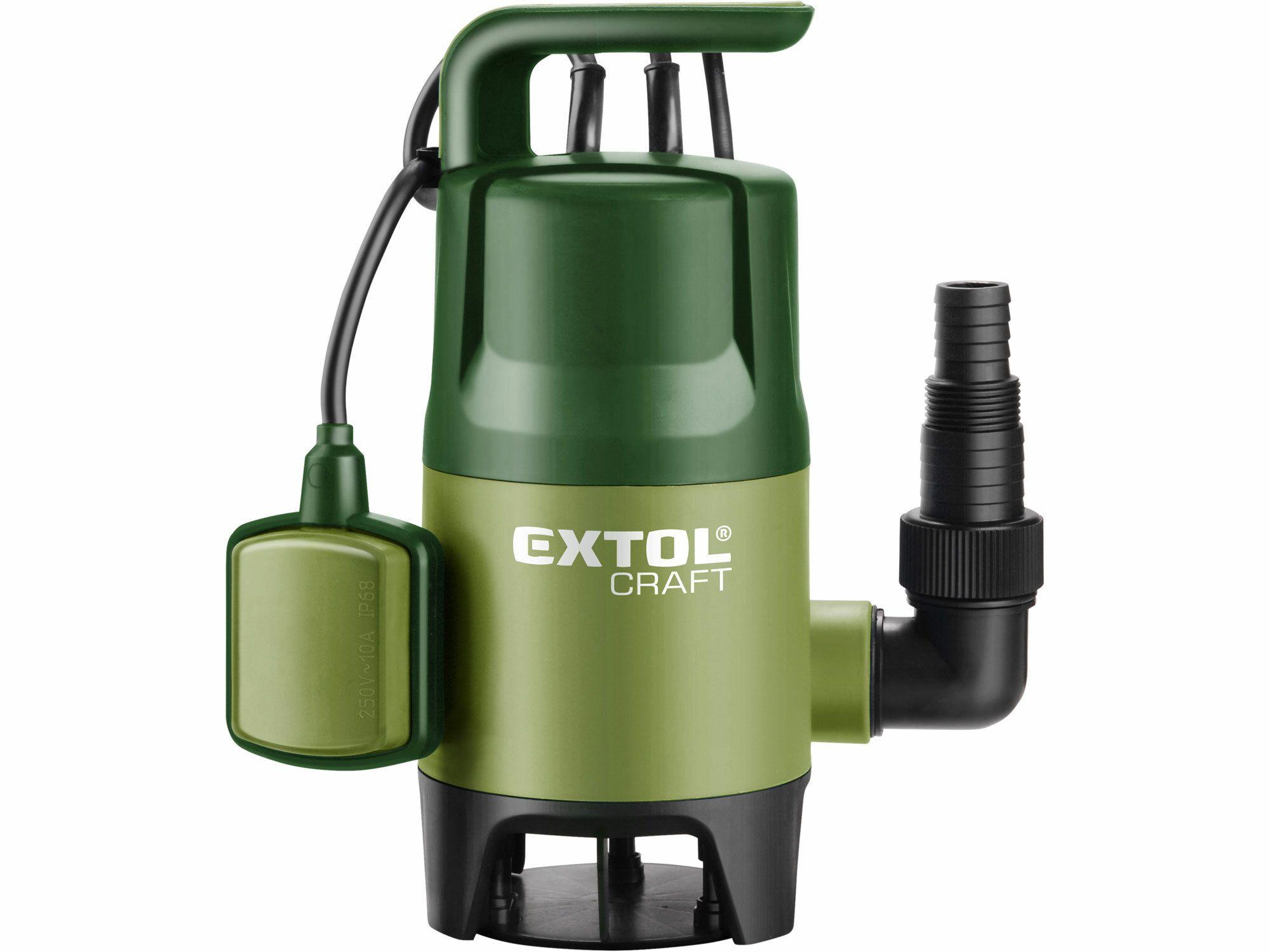 Čerpadlo na znečištěnou vodu, 400W, 7500l/hod, 10m, EXTOL CRAFT