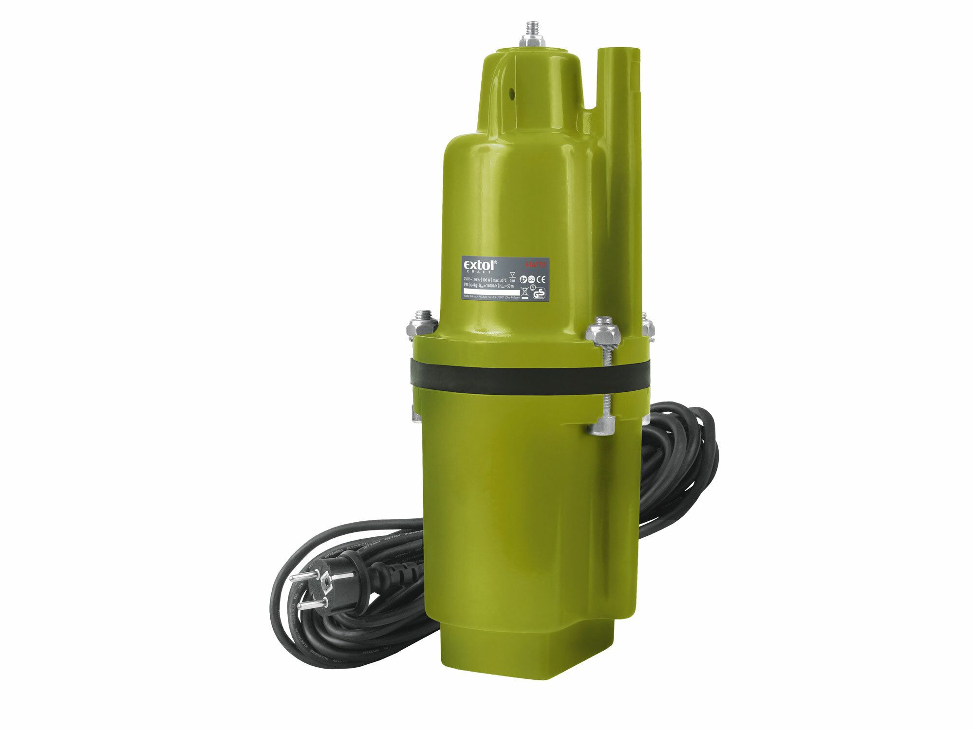 Čerpadlo membránové hlbinné ponorné, 300W, 1400l/hod, 10m, EXTOL CRAFT, 414170