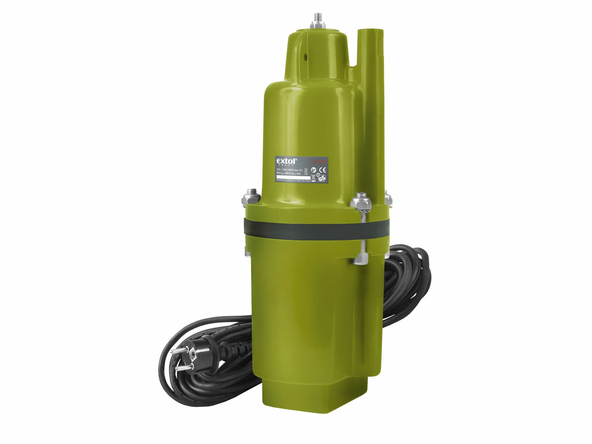 Čerpadlo membránové hlbinné ponorné, 600W, 2000l/hod, 10m, EXTOL CRAFT, 414175
