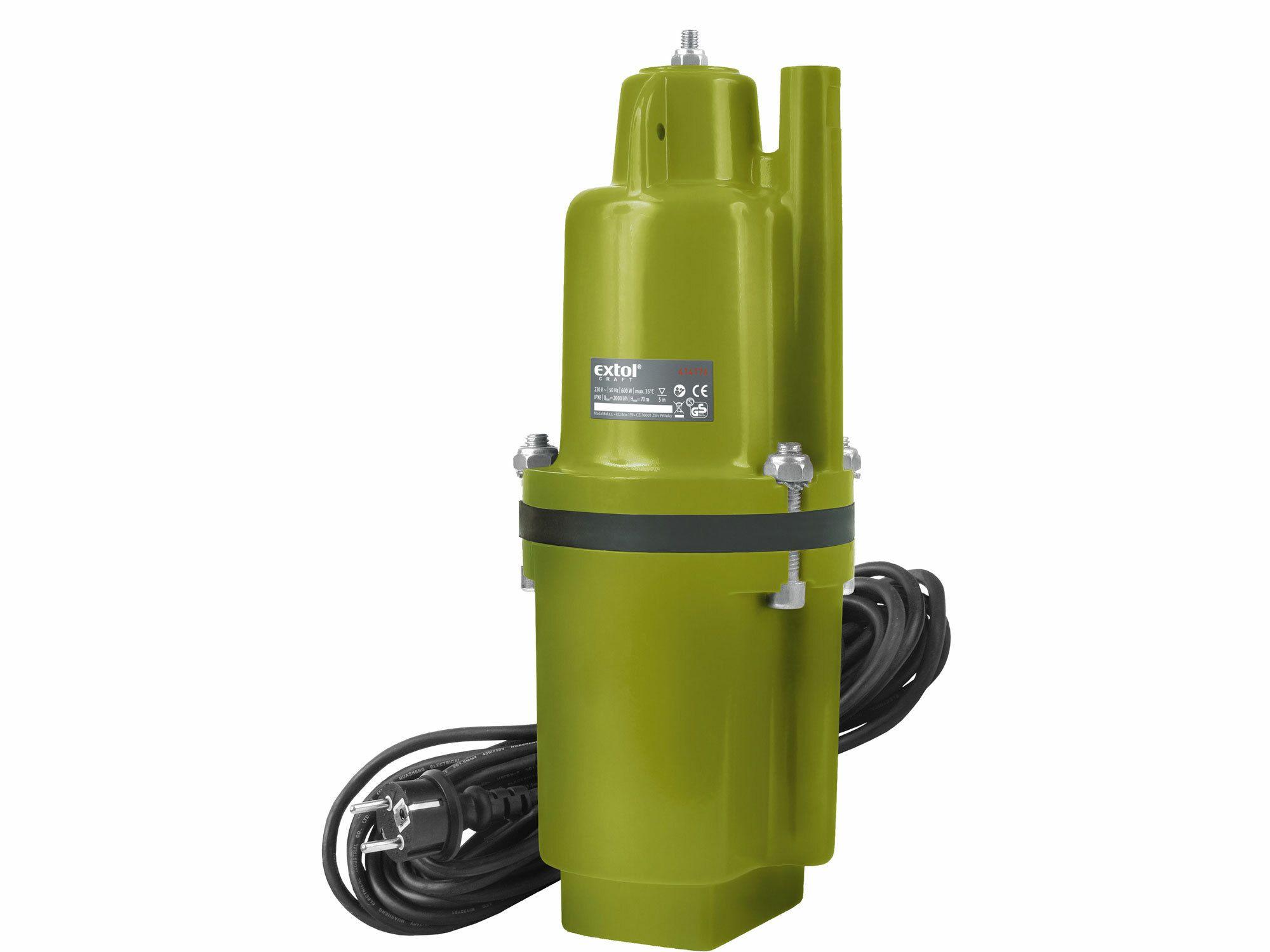 Čerpadlo membránové hlbinné ponorné, 600W, 2000l/hod, 20m, EXTOL CRAFT, 414176