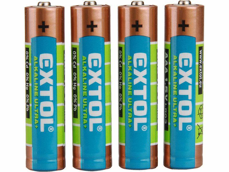 Baterie alkalické ULTRA +, 4ks, 1,5V AAA (LR03)