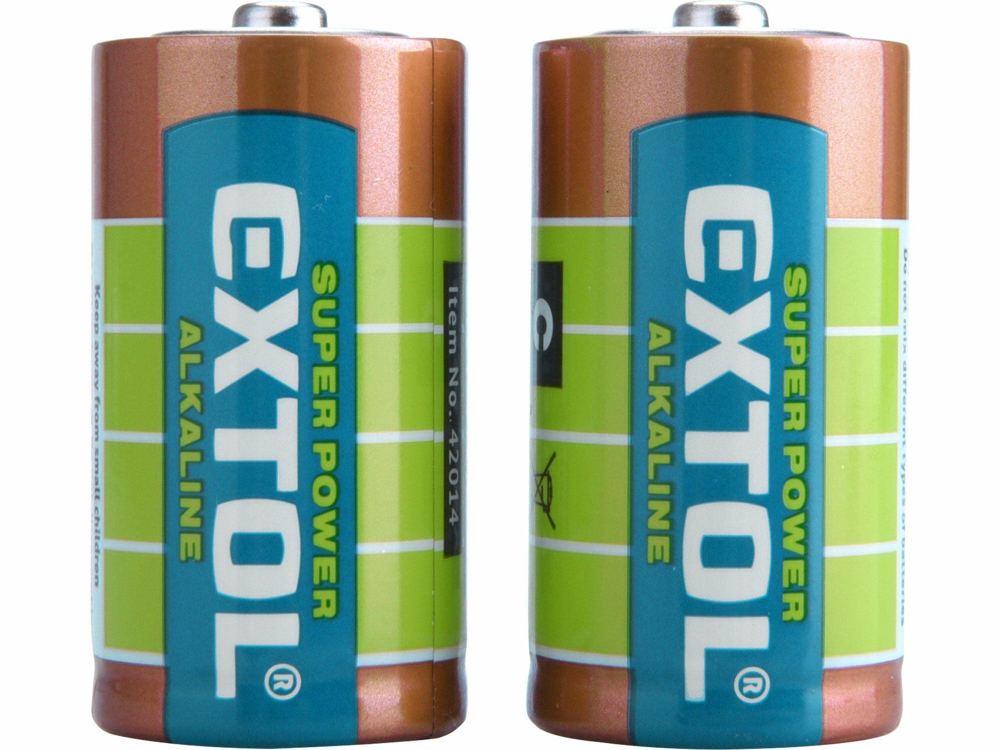 Baterie alkalické, 2ks, 1,5V C (LR14)