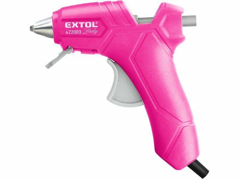 Pistole tavná lepící, Ř7,2mm, 25W, růžová, EXTOL LADY, 422003