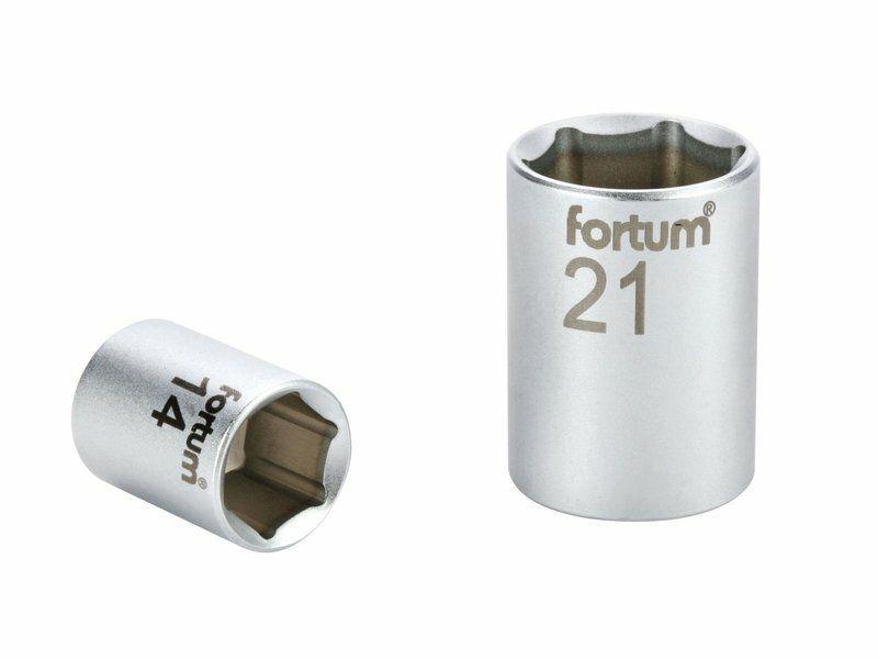 """Hlavice nástrčná 1/4"""", 6mm, L 25mm, FORTUM"""