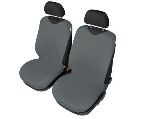 Autopotahy Tričko BAVLA na přední sedadla - tmavěšedé