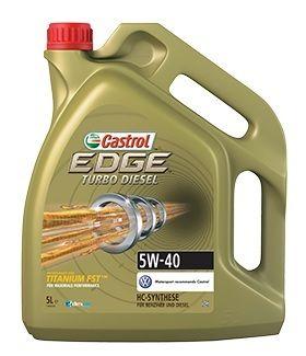 Motorový olej Castrol EDGE TURBO DIESEL 5W40 TITANIUM FST 5L