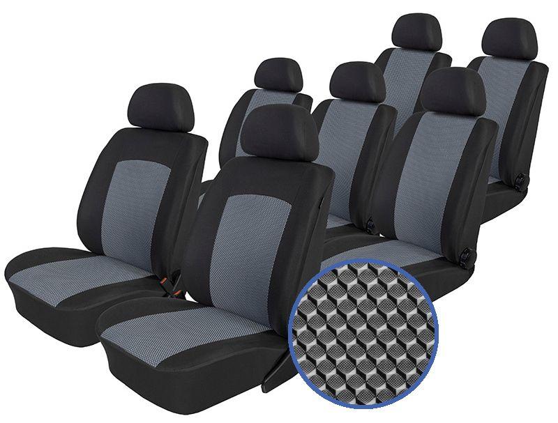 Autopotahy Seat Alhambra, od r. 1994-2010, 7 míst, Dynamic šedé