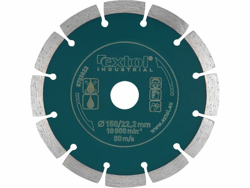 Kotúč diamantový rezný segmentový Grab Cut, 115x22,2mm, suché reaznie, EXTOL INDUSTRIAL