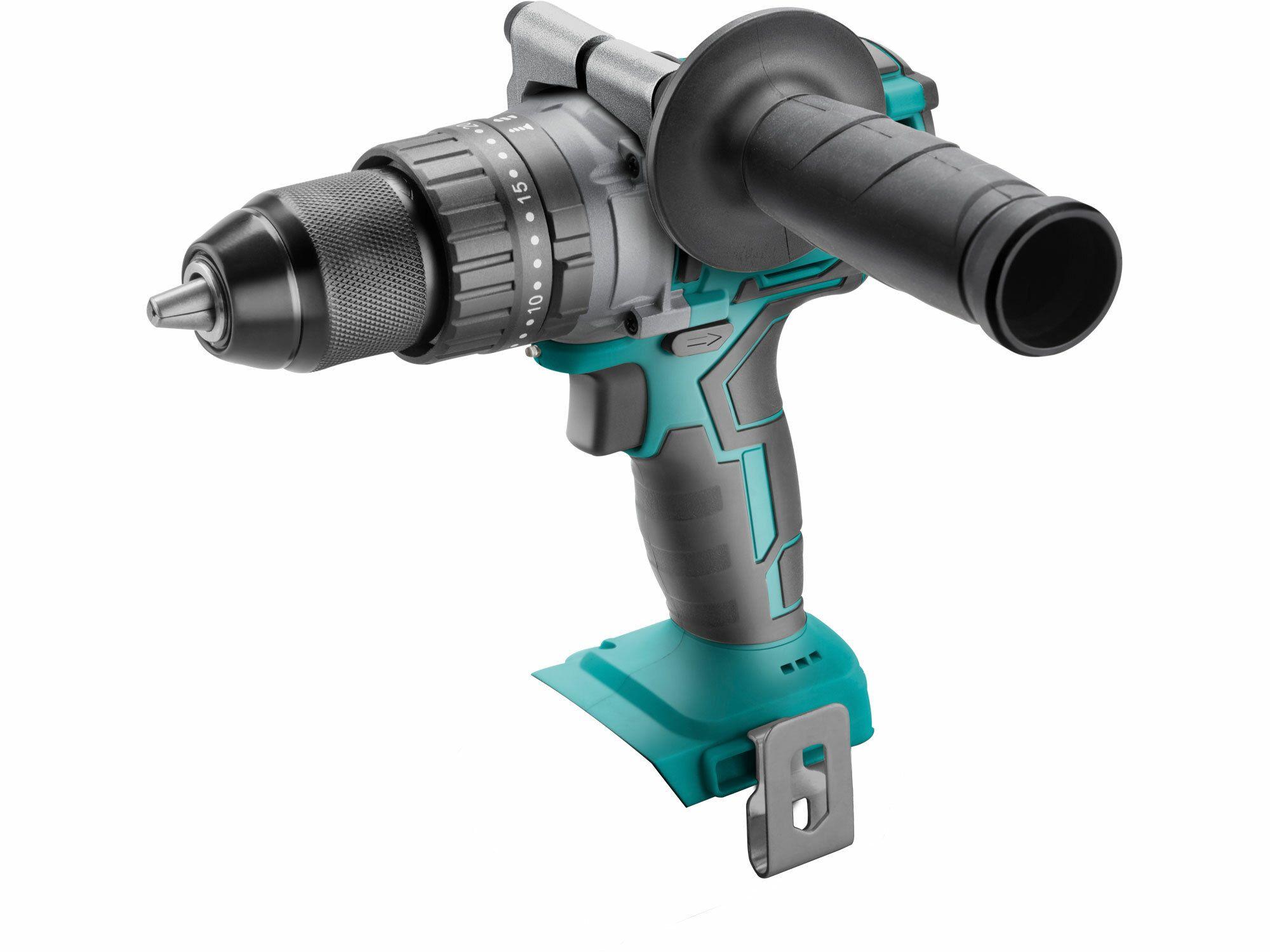 Vrtací šroubovák aku s příkl, 20V Li-Ion, bez baterie a nabíječky,EXTOL SHARE20V BRUSHLESS