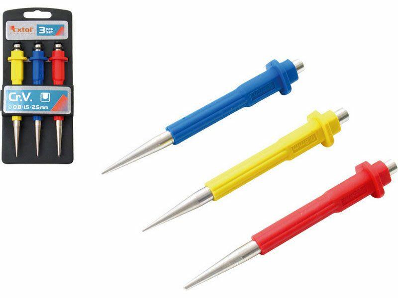 Jamkáre, sada 3ks, 0,8-1,5-2,5mm, dĺžka 125mm, CrV, EXTOL PREMIUM