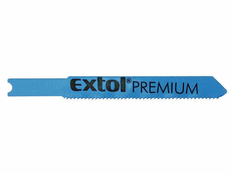 Listy do priamočiarej píly 5ks, 51x1,2mm, úchyt UNIVERSAL, HSS, EXTOL PREMIUM