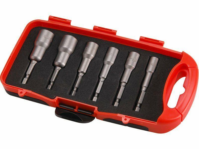 Klíče nástrčné do vrtačky, sada 6ks, 6-13mm, délka 65mm, CrV, EXTOL PREMIUM