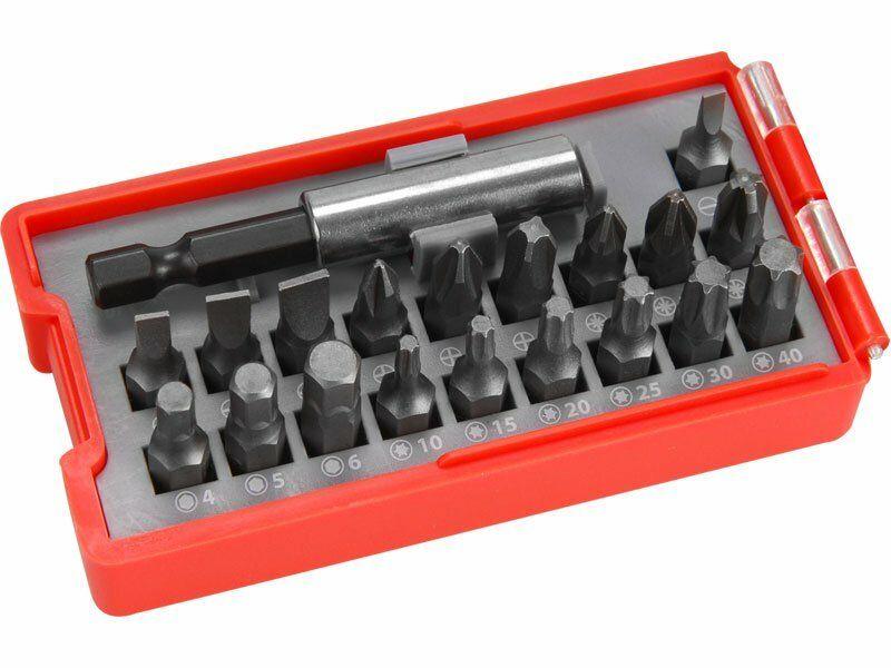 Hroty, sada 20ks, magnetický držák hrotů, CrV