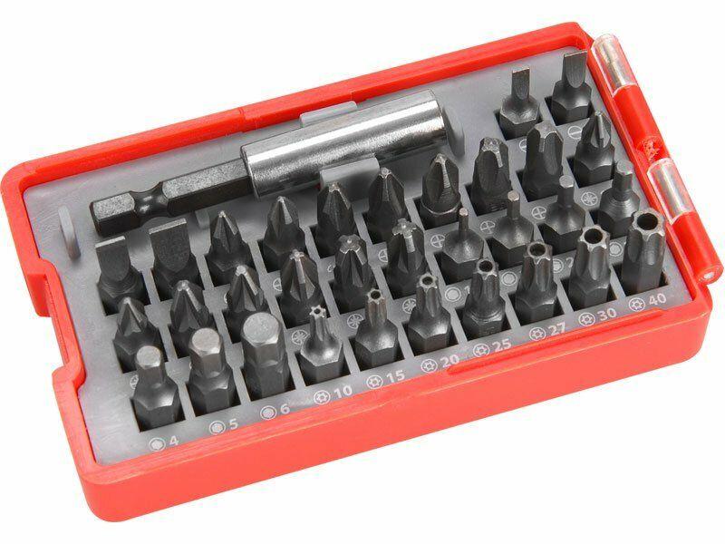 Hroty, sada 33ks, magnetický držák hrotů, CrV