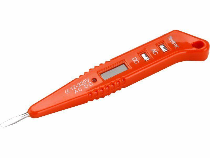 Zkoušečka napětí digitální s LED světlem 12-250V, 12-250V, délka 146mm