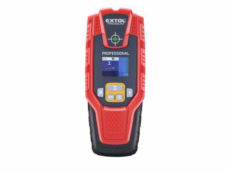 Digitální detektor s displejem k detekci skytých kovů, Extol Premium