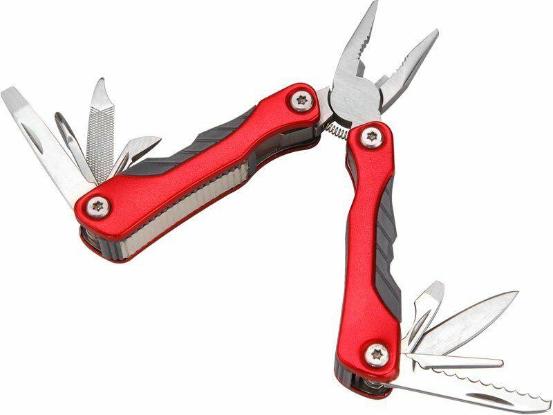 Nůž kapesní multifunkční s nářadím, 100/67mm, 9 dílů, d. otevř. nože 100mm, EXTOL PREMIUM