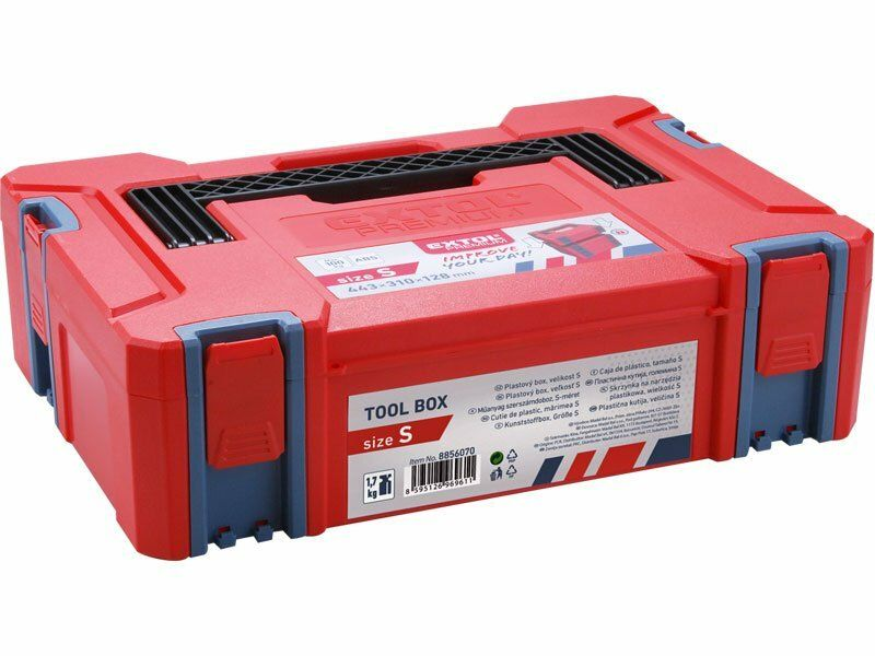 Box plastový, S velikost, rozměr 443x310x128mm, ABS, EXTOL PREMIUM
