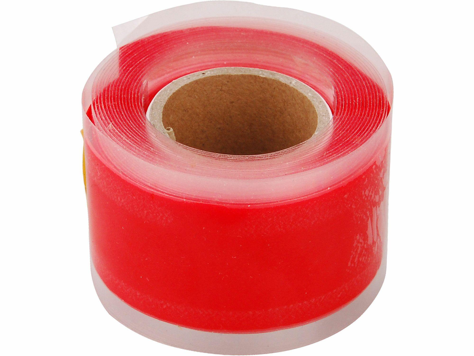 Páska silikonová samofixační, 25mm x 3,3m, červená barva