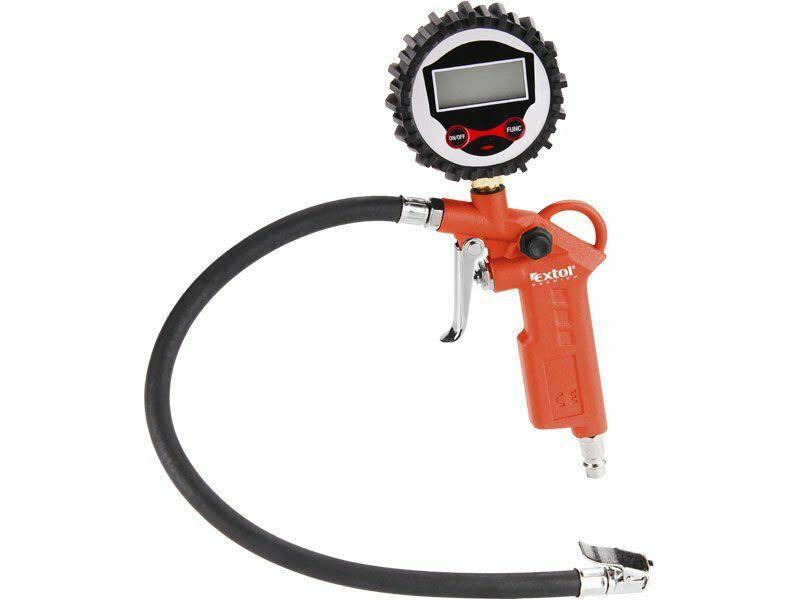 Plnič pneumatik s manometrem, digitální, stupnice - psi, bar, kPa, Kgf/cm2, RP 120 D