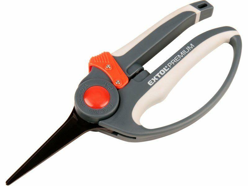 Nůžky zahradnické přímé, 215mm, rukojeť s chráničem prstů, HCS, EXTOL PREMIUM