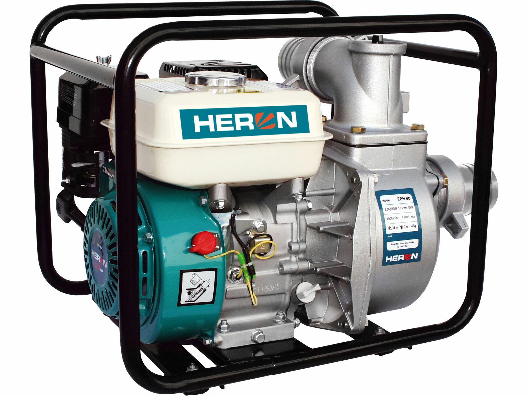 """Čerpadlo motorové prúdové 6,5HP, 3""""/3"""" (76mm), 1100l/min = 66m3/hod, HERON, 8895102"""