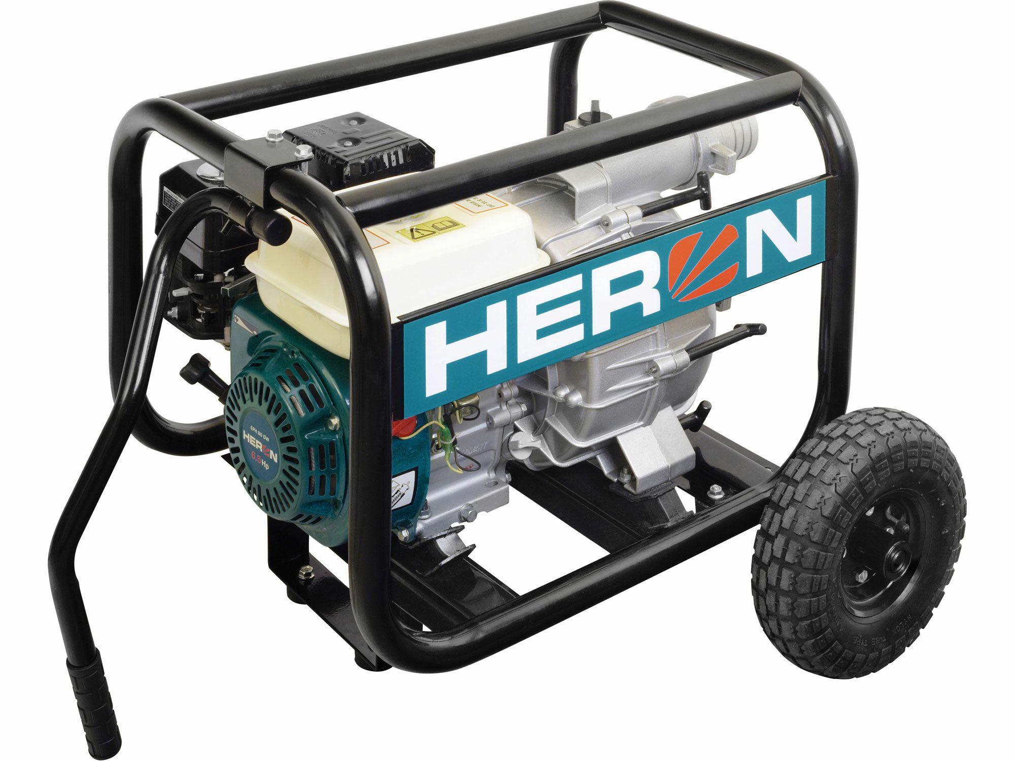 """Čerpadlo motorové kalové 6,5HP, 3""""/3"""" (76mm), 1300l/min = 78m3/hod, HERON, 8895105"""