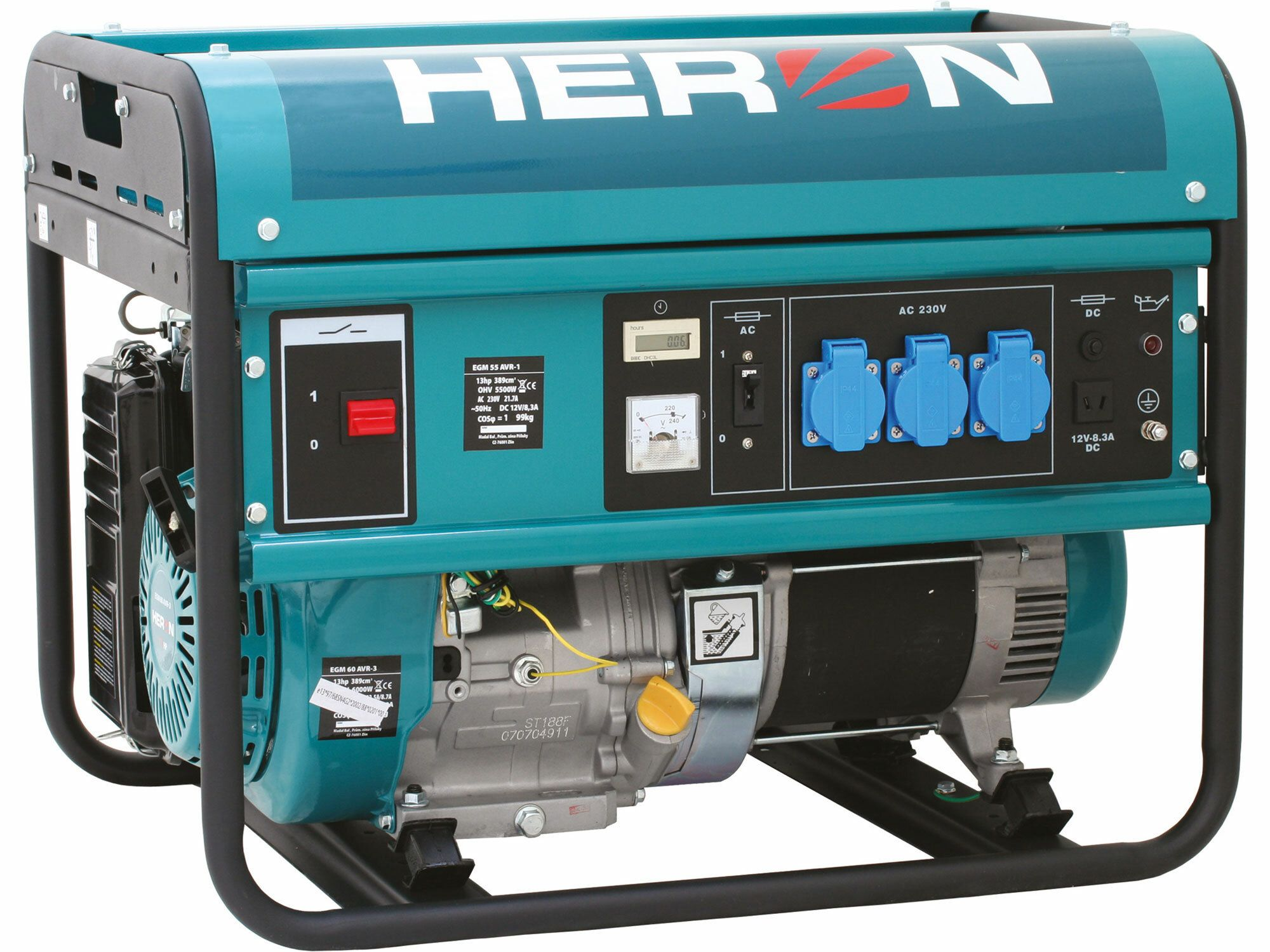 Elektrocentrála benzínová 13HP, na zváranie, 5,5kW, HERON, EGM 55 AVR-1, 8896113