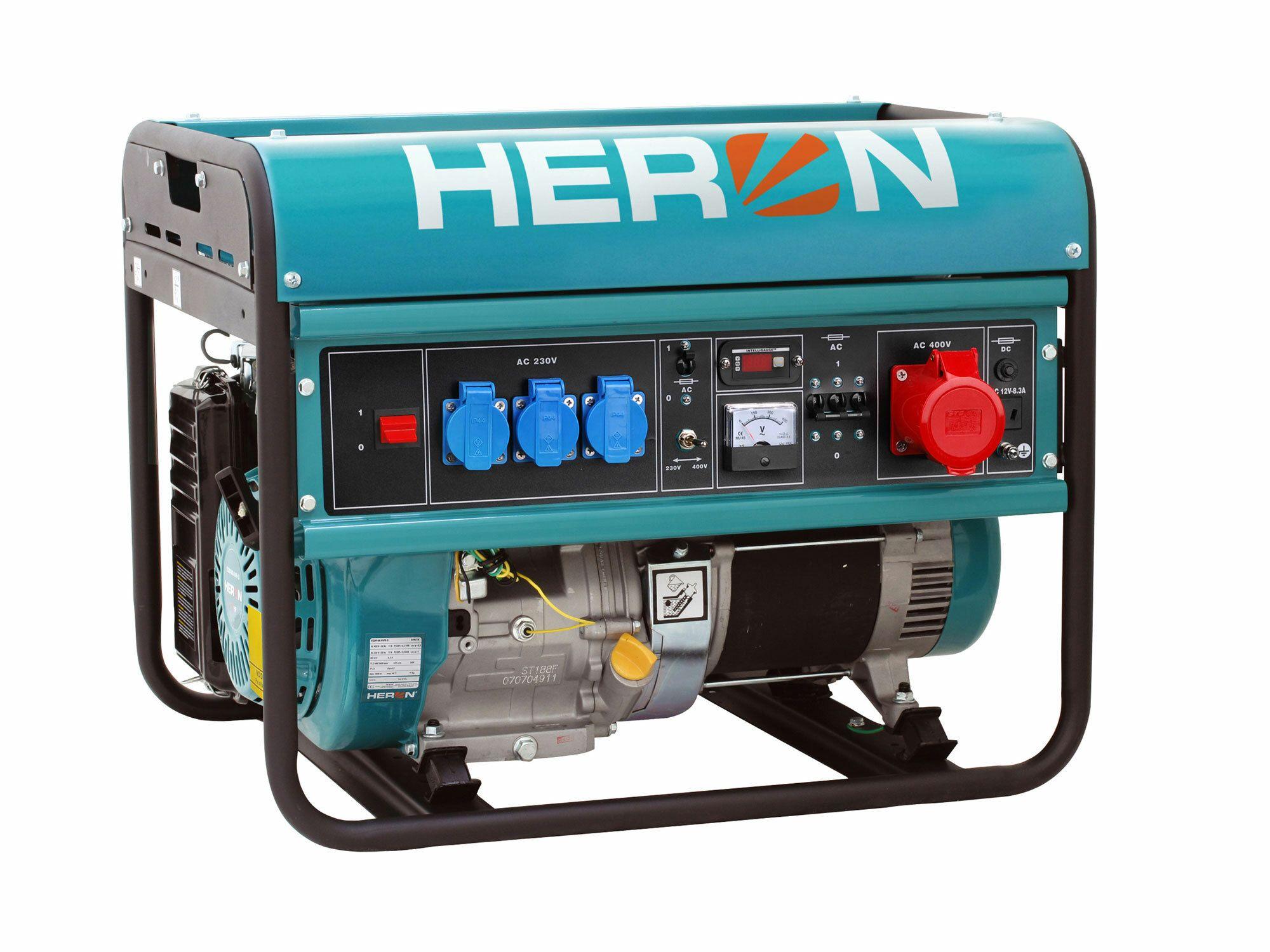 Elektrocentrála benzínová 15HP, 6,8kW (400V)/5,5kW (230V), HERON, 8896118