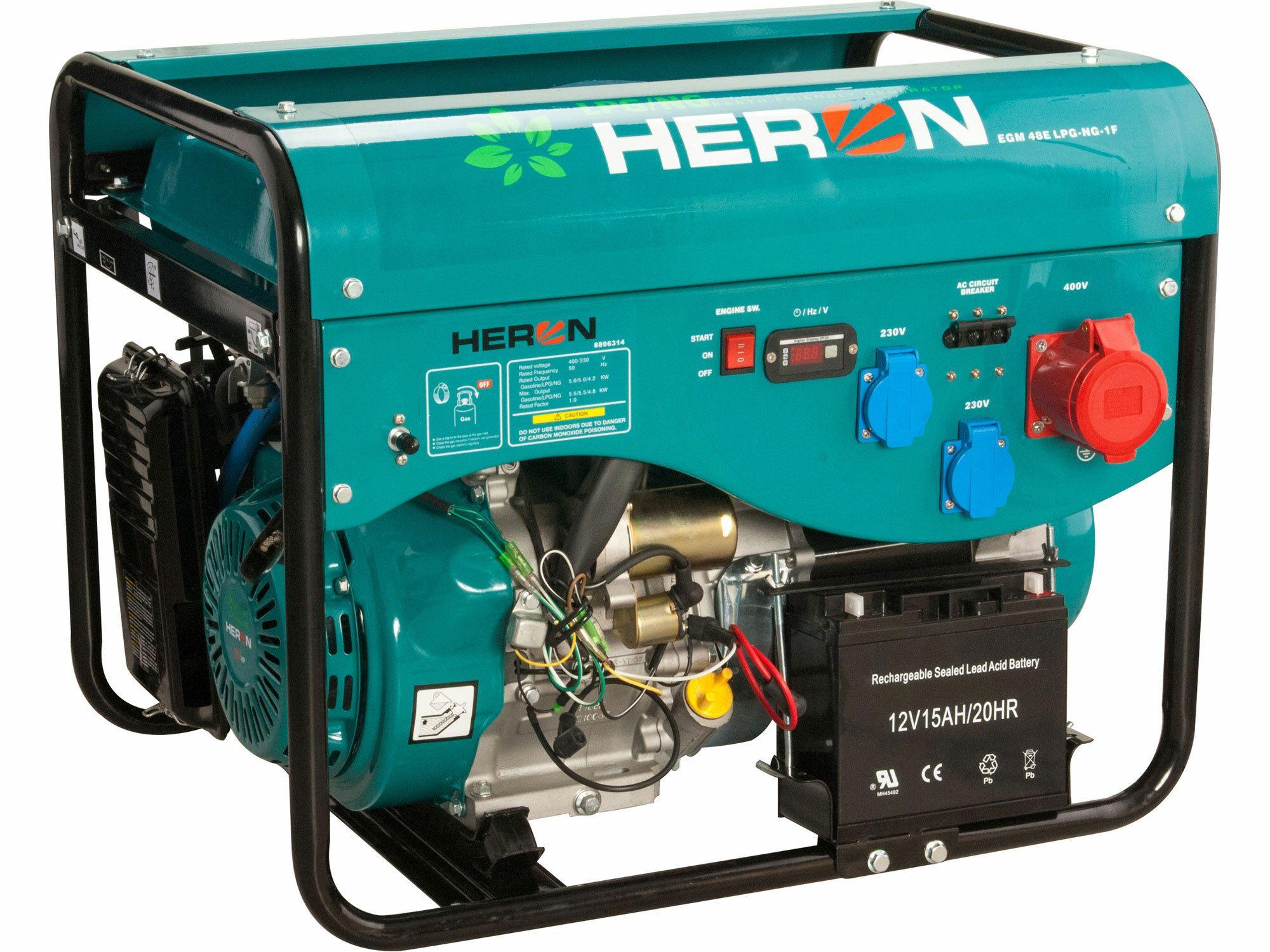 """Čerpadlo motorové prúdové 5,5HP, 2""""/2"""" (51mm), 600l/min = 36m3/hod, HERON, 8895101"""