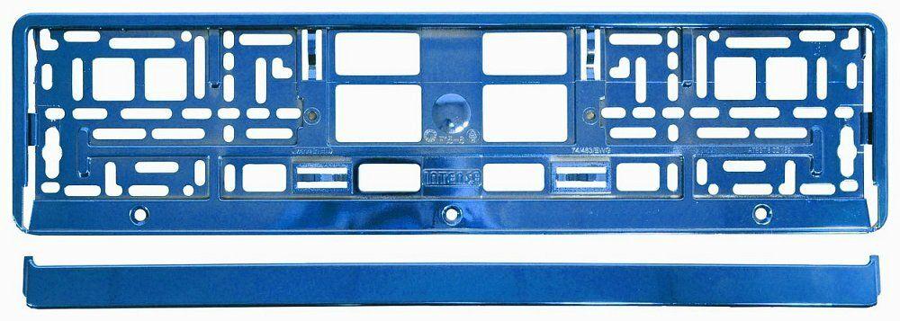 Podložka pod SPZ BLUE metallic, COMPASS
