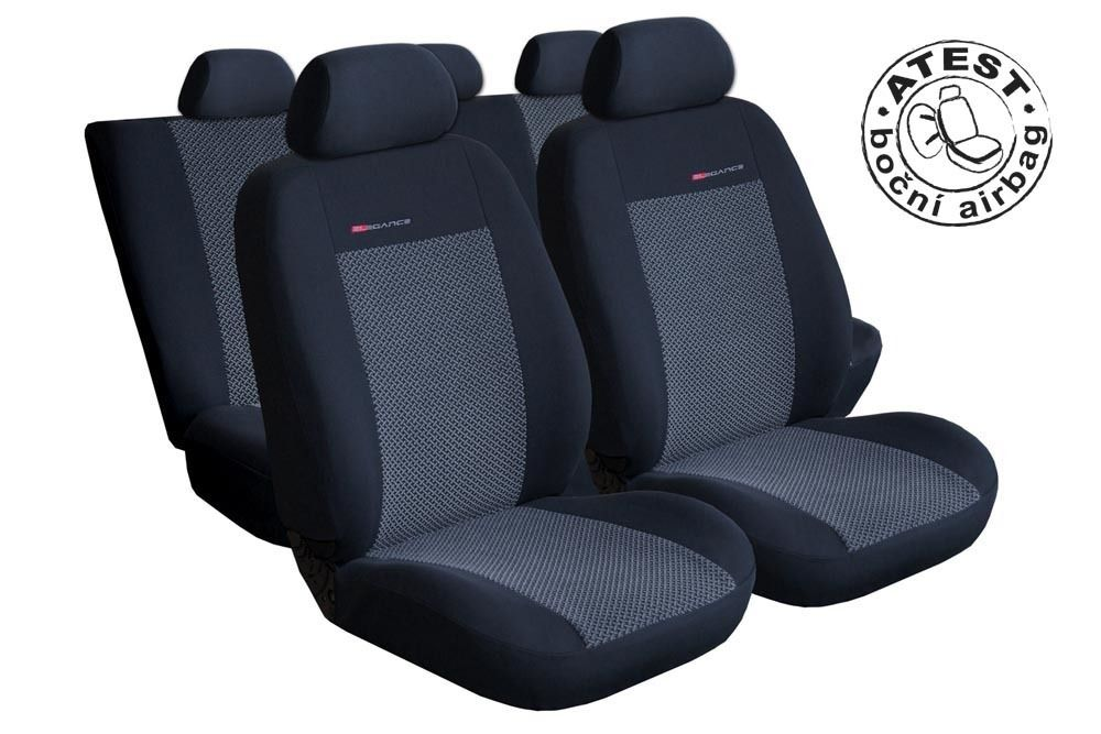 Autopotahy Škoda Fabia II, nedělená, šedo černé