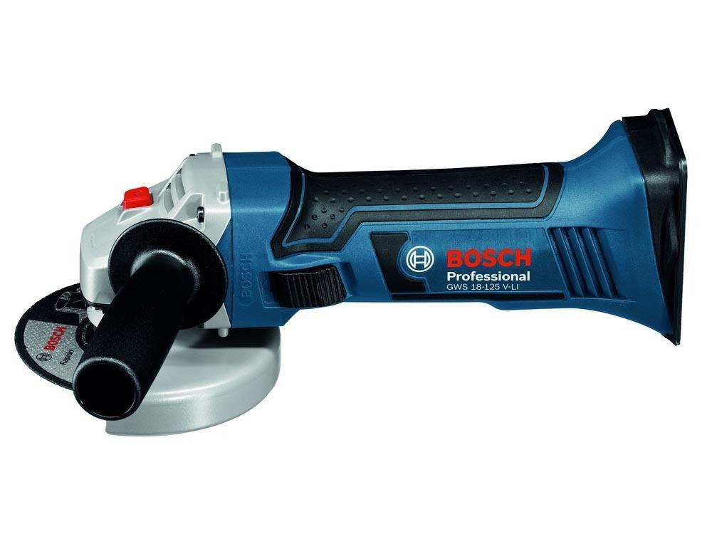 Uhlová bruska Bosch GWS 18-125 V-LI Professional - bez baterie, 060193A307