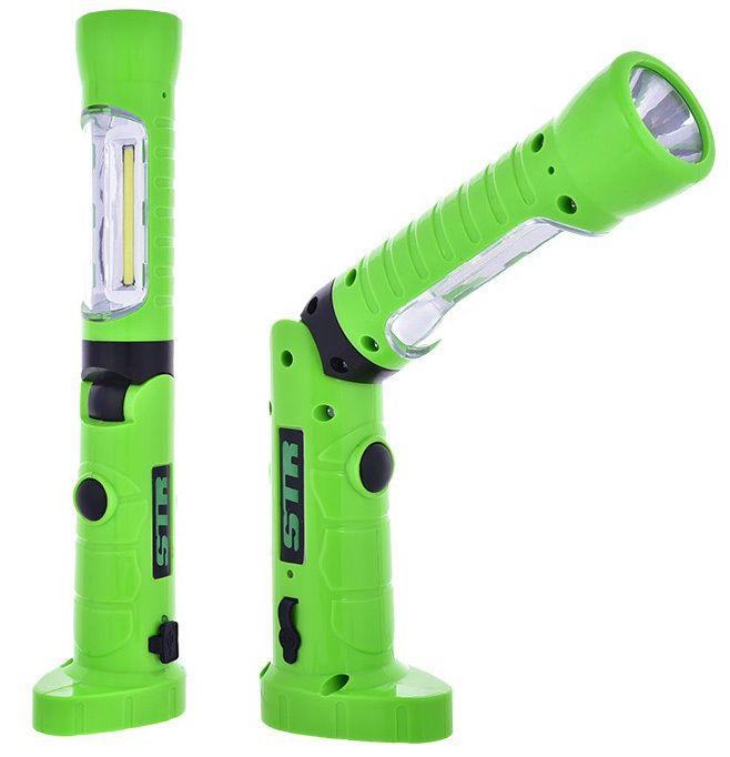 Pracovní / montážní lampa COB s výklopným tělesem, přídavnou svítilnou a magnetem DT600