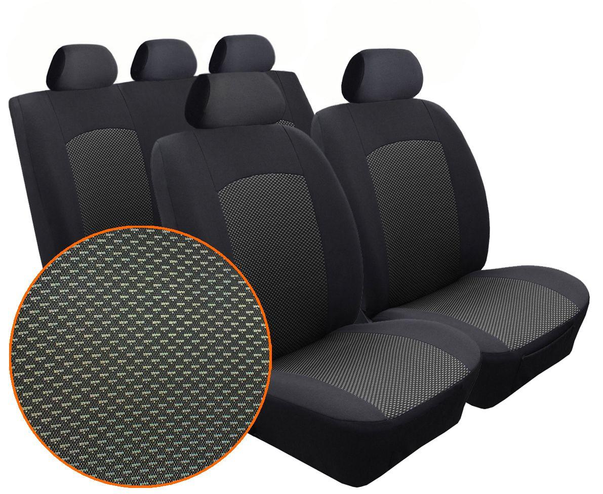 Autopotahy Seat Alhambra, od r. 1994-2010, 5 míst, Dynamic žakar tmavý
