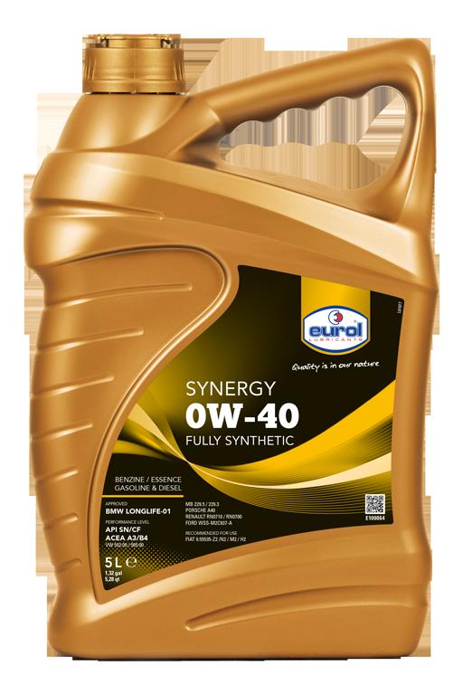 Motorový olej Eurol Synergy 0W-40 5l
