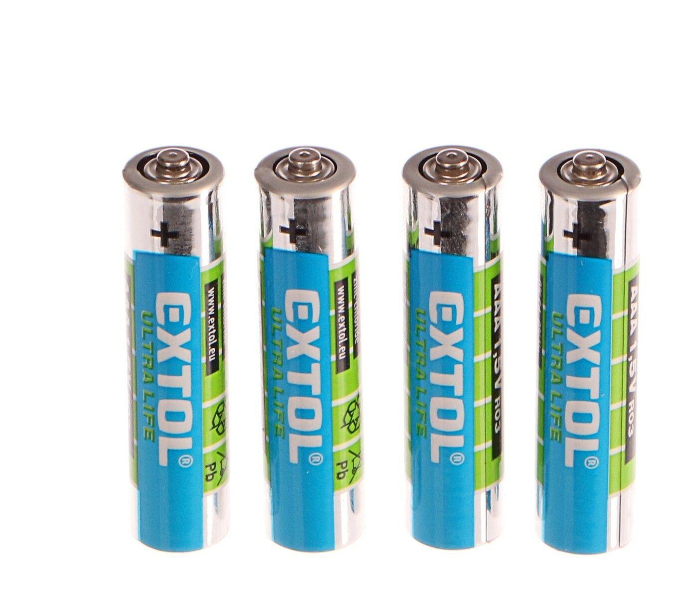 Baterie zink-chloridové, 4ks, 1,5V AAA (LR03)