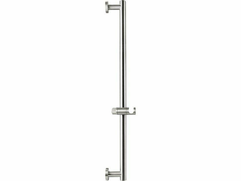 Tyč s posuvným držákem sprchy, celokovová, 71cm, nerez