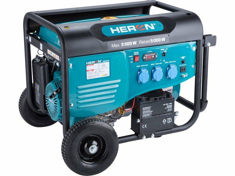 Elektrocentrála benzínová 5,5kW/13HP, pro svařování, elektrický start, podvozek