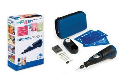 Aku univerzální nářadí DREMEL 7700 Series, 15ks příslušenství, gravír. šablony, F0137700JF