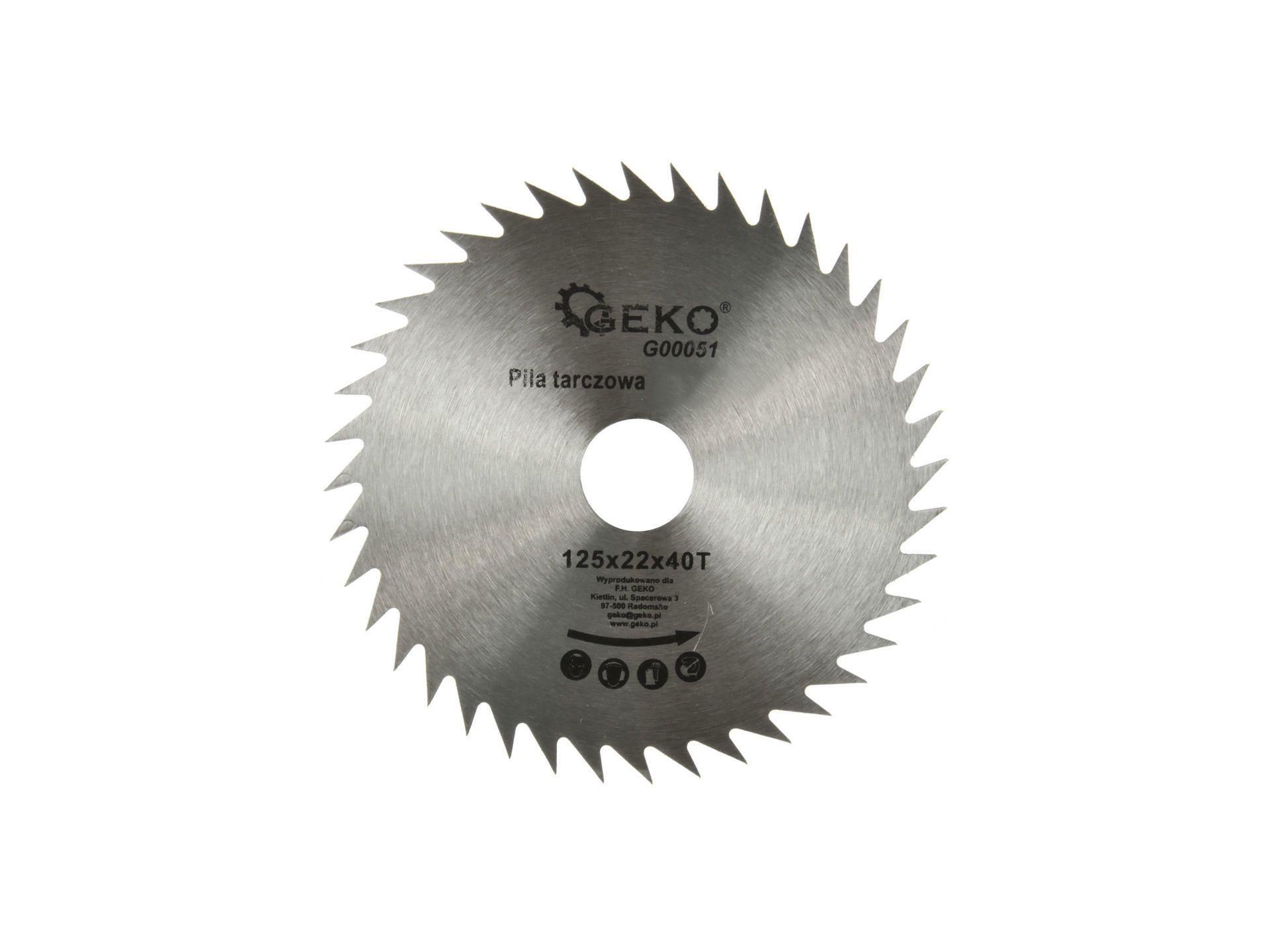 Kotúč pílový s SK plátkami, 125x1,3x22,2mm, 40T, šírka SK plátkov 2,6mm, SK, EXTOL PREMIUM
