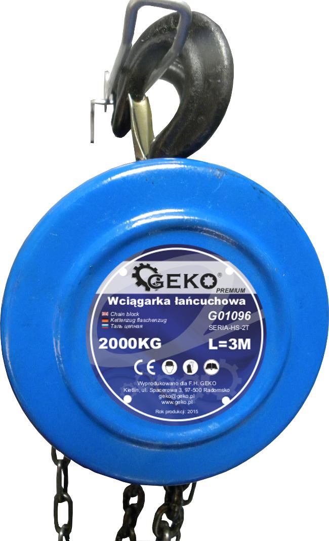 Kladkostroj řetězový 2000kg, GEKO