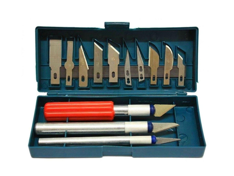 Sada nožů a modelových skalpelů 13 ks