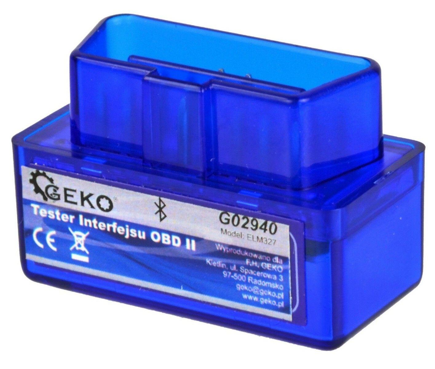 Autodiagnostika ELM 327 bluetooth modrá, Android (zdarma SX OBD aplikace)