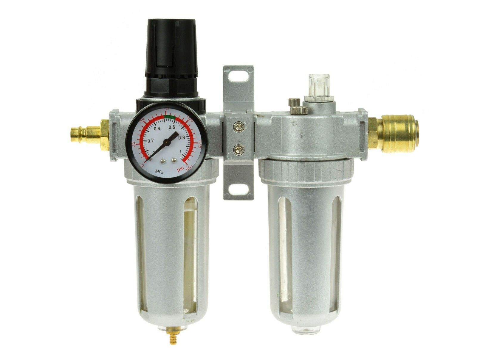 Regulátor tlaku s filtrem a manometrem a přim. oleje, max. prac. tlak 1,0MPa