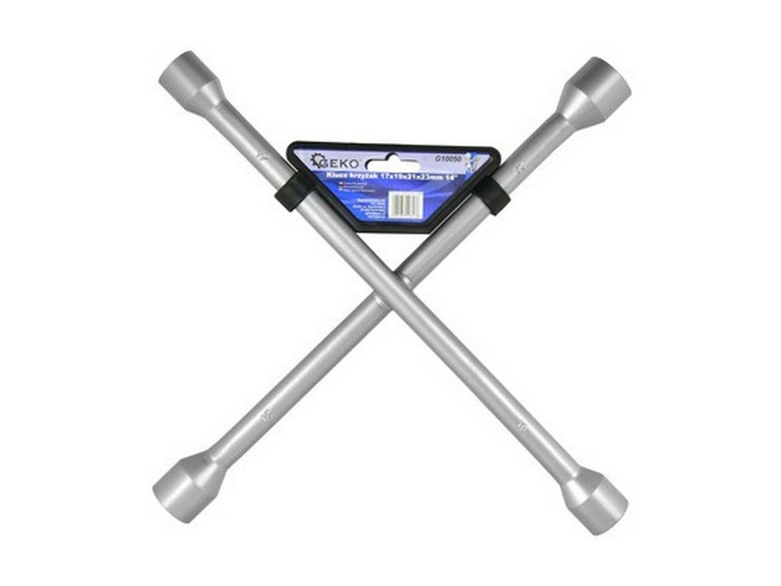 Klíč křížový na kola, 17x19x21x22mm