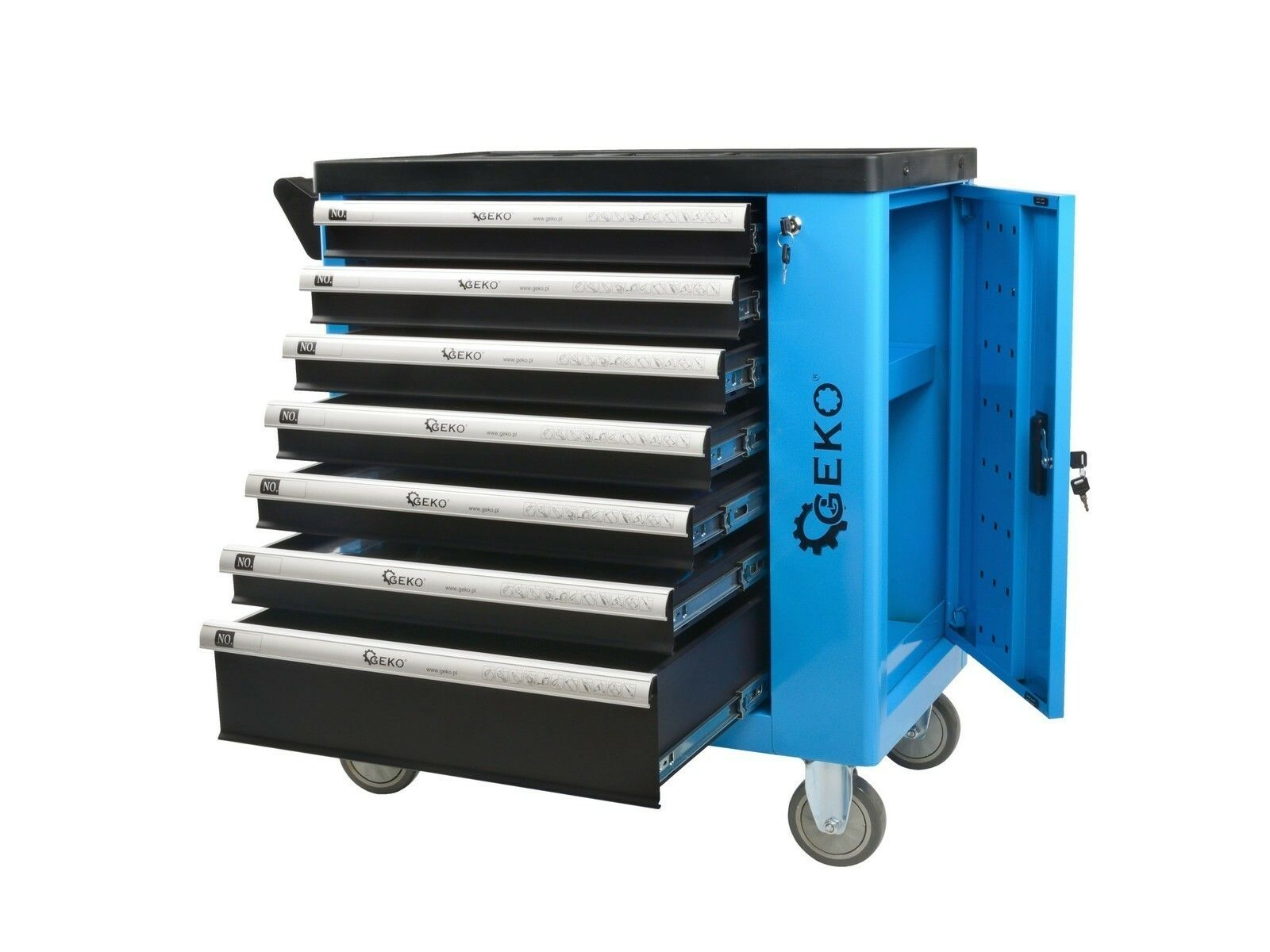 Dílenská skříňka/vozík s výbavou 243ks 7 zásuvek