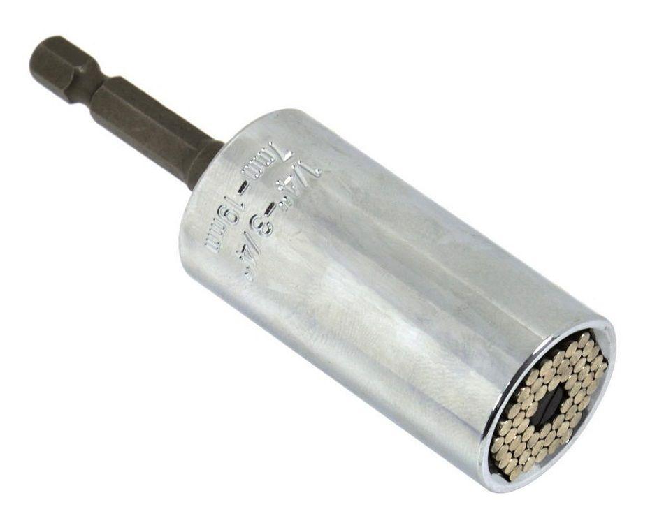 """Nástavec univerzální 7-19 mm délka 52 mm + adaptér 3/8"""" 50 mm"""