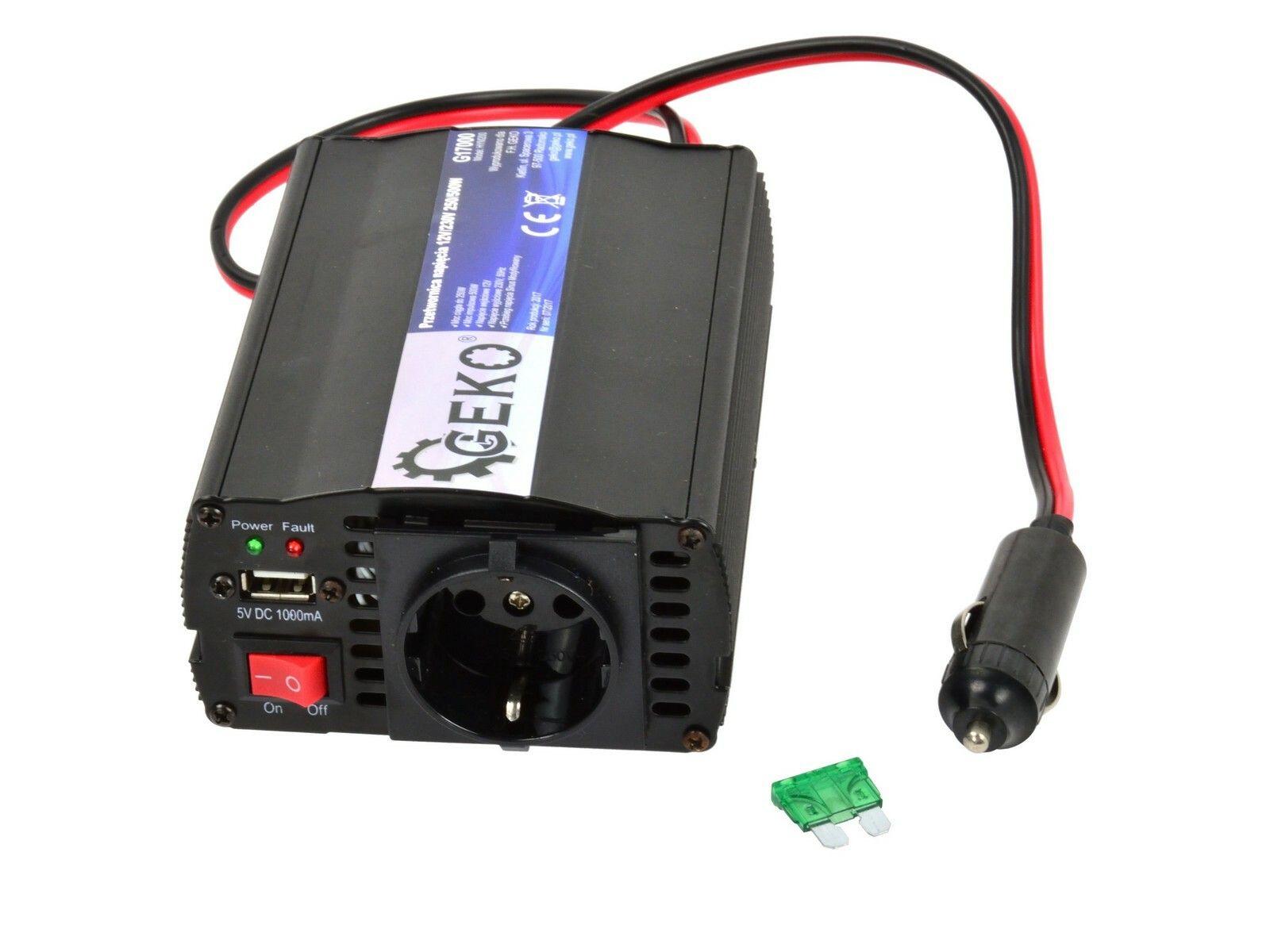 Měnič napětí 12V/230V, 250/500W