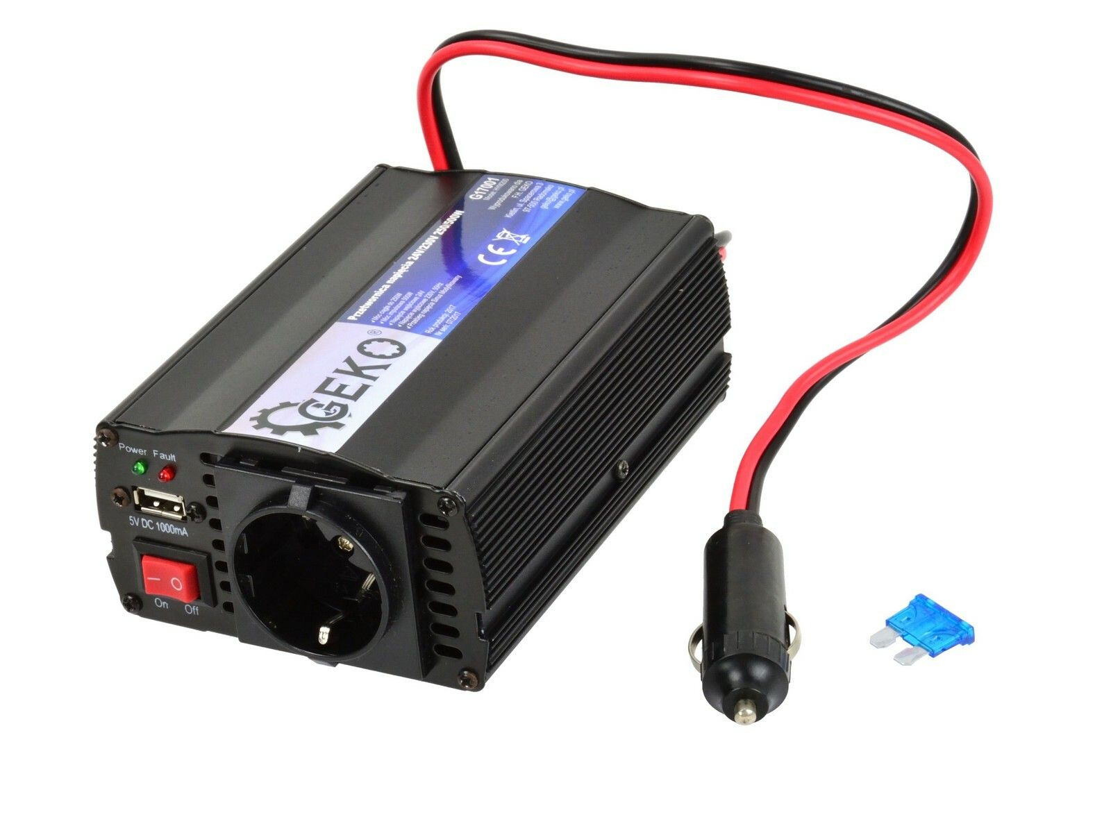 Měnič napětí 24V/230V, 250/500W